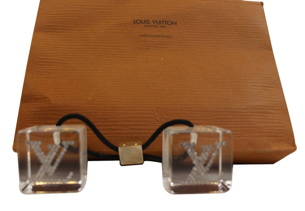 LOUIS VUITTON Translucent Hair Cubes with LV Logo
