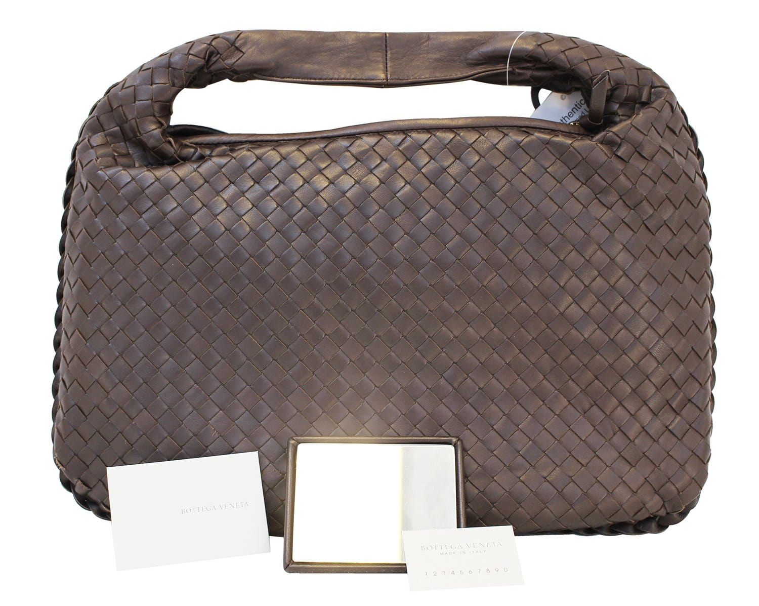 60202ceeb38 BOTTEGA VENETA Espresso Intrecciato Nappa Medium Veneta Hobo Bag - Fin