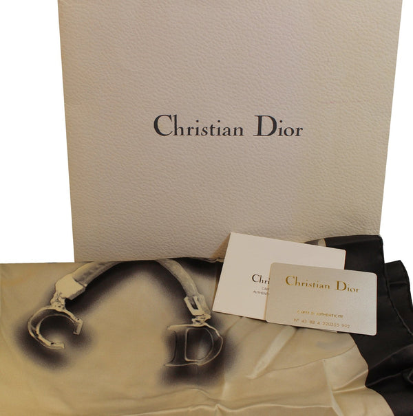 CHRISTIAN DIOR Black Almond scarf
