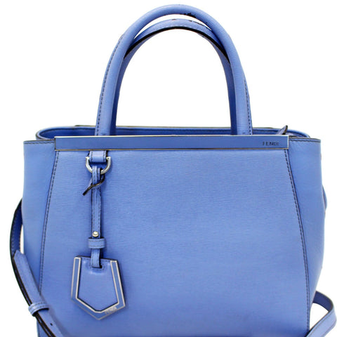 FENDI Blue Leather Roma Petite 2 Jours Shoulder Handbag