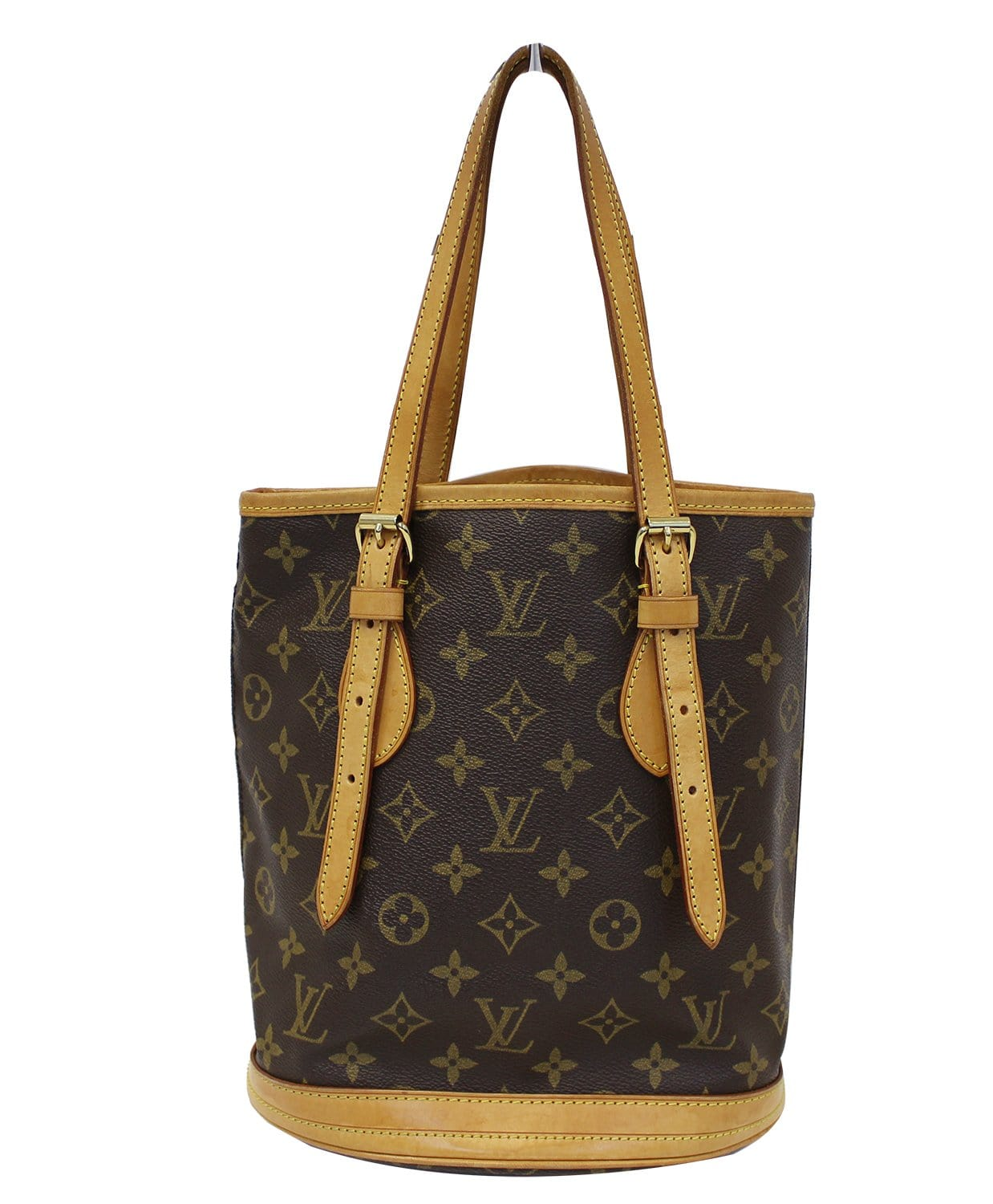 461d377537 LOUIS VUITTON Bucket PM Monogram Canvas Shoulder Bag