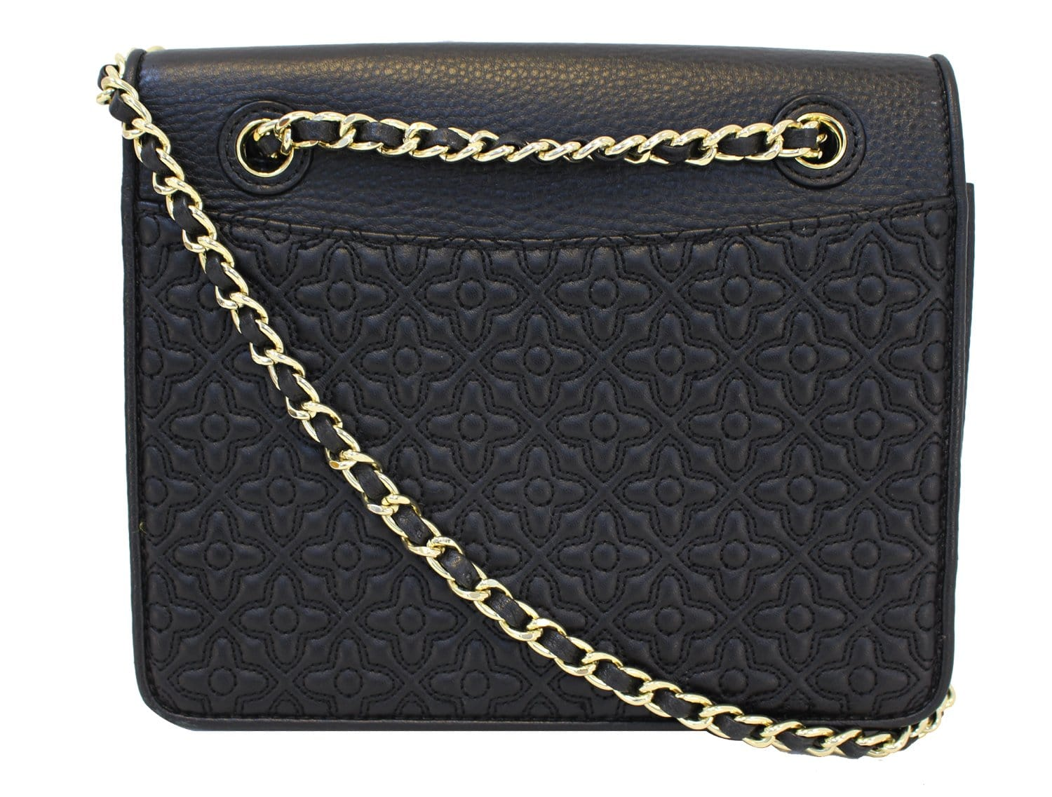 Authentic Tory Burch Bryant Quilted Leather Black