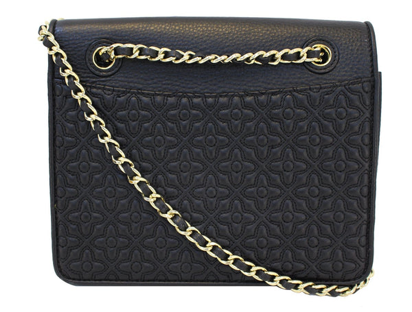 Authentic TORY BURCH Bryant Quilted Leather Black Crossbody Bag TT1527