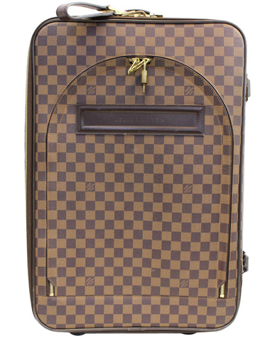 c735ce0e6a2e LOUIS VUITTON Damier Ebene Pegase 55 Business Suitcase Travel Bag - 20% Off
