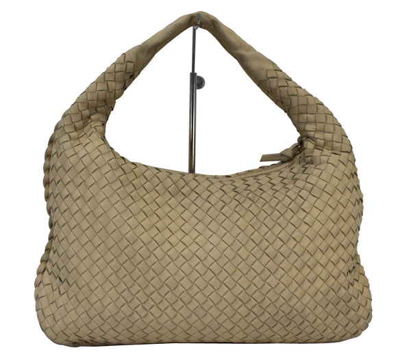 BOTTEGA VENETA Beige Intrecciato Nappa Medium Veneta Hobo Bag - Sale