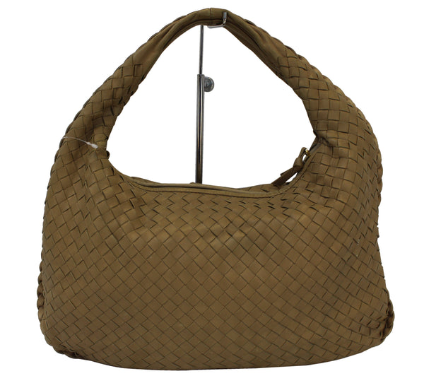 BOTTEGA VENETA Espresso Intrecciato Nappa Medium Veneta Hobo Bag - Final Call