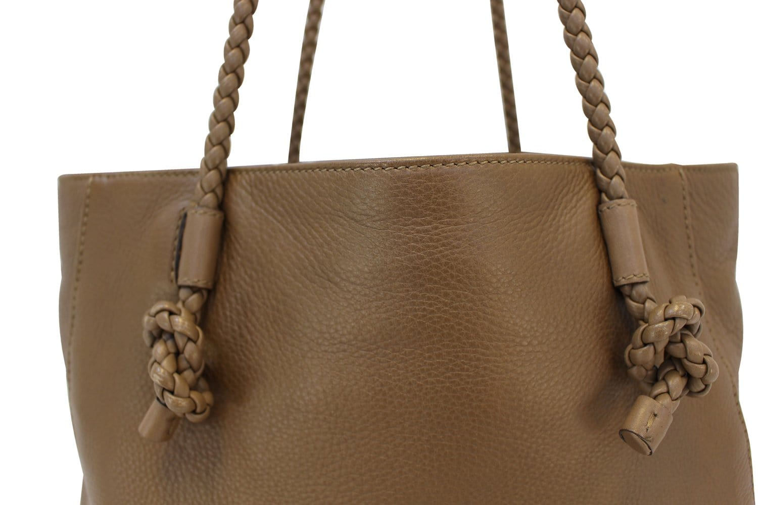 ddc7f3bc5 GUCCI 267903 Mesh Hand Leather Brown Tote Bag - Sale