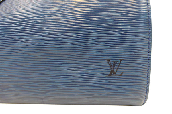 LOUIS VUITTON Epi Speedy 25 Blue Satchel Handbag - Sale