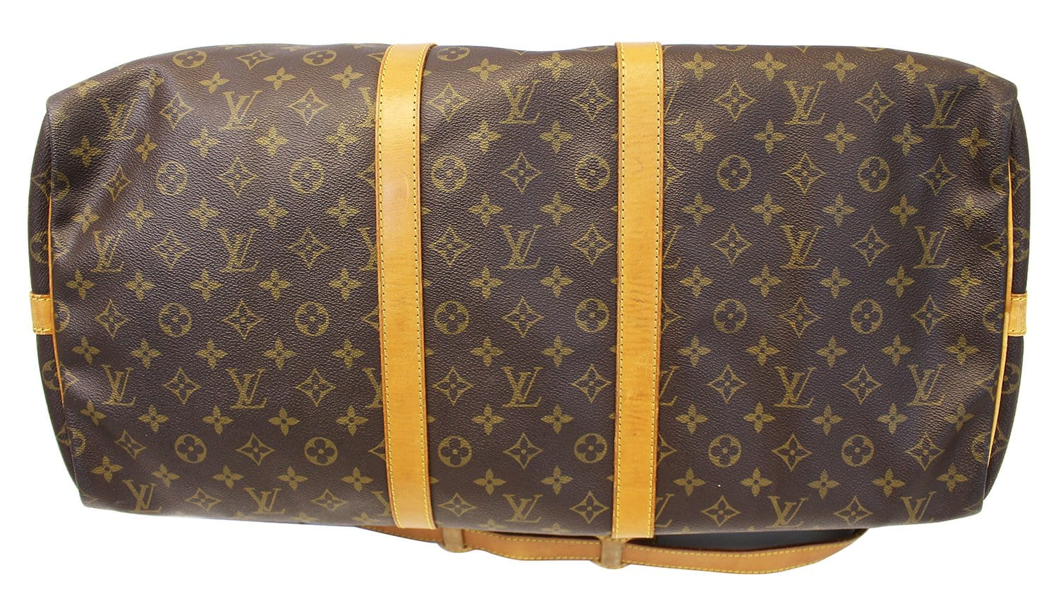 9f3bb232a38 LOUIS VUITTON Monogram Keepall Bandouliere 55 Boston Bag