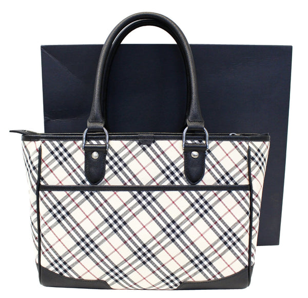 Burberry Shoulder Bag - BURBERRY Women Bag Check Plaid Jacquard - front