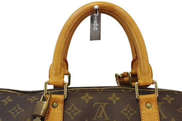 Authentic LOUIS VUITTON Monogram Keepall Bandouliere 55 Boston Bag TT1498