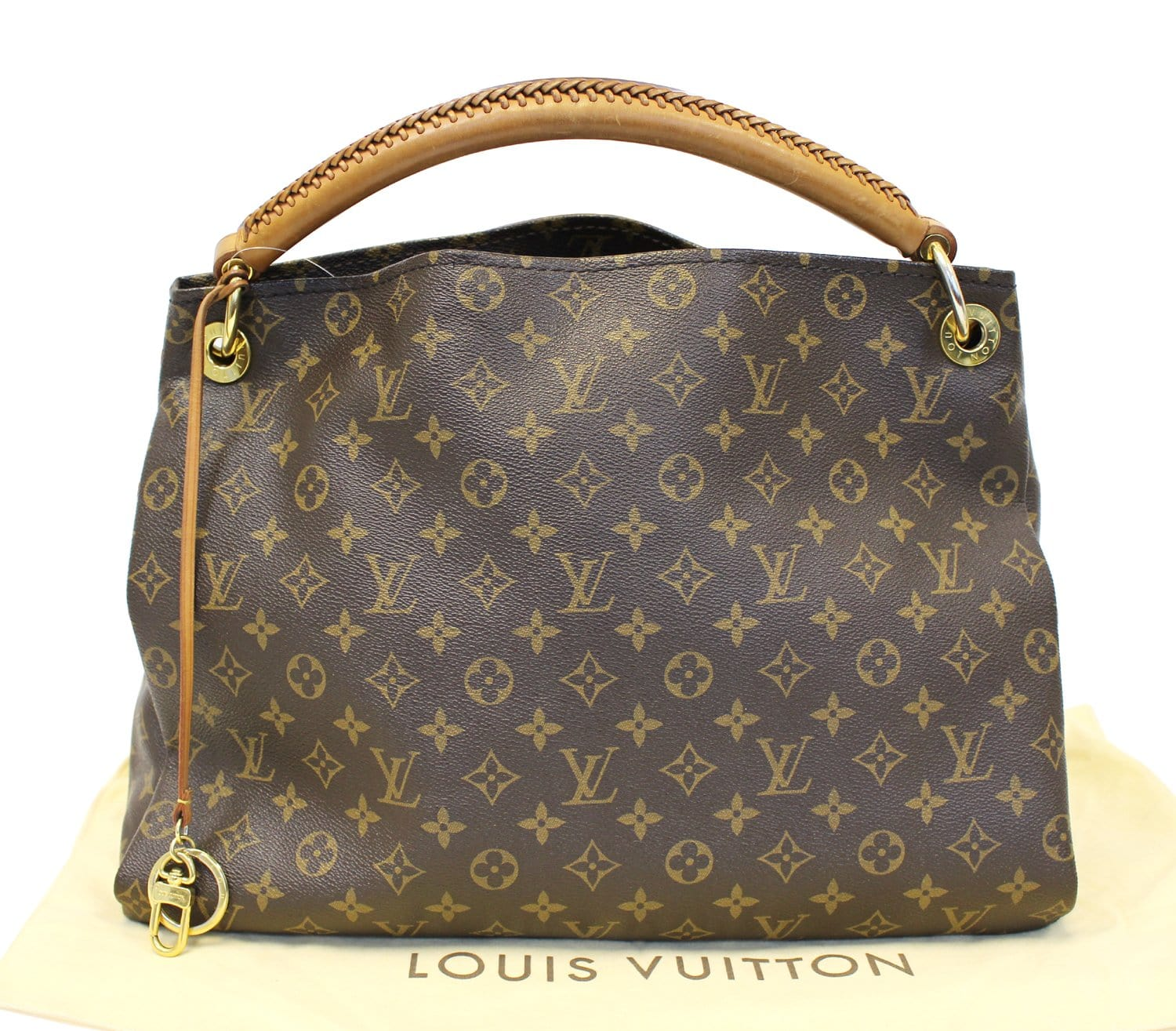 LOUIS VUITTON Pre Loved Artsy MM Monogram Canvas Tote Handbag d53f7a56b6