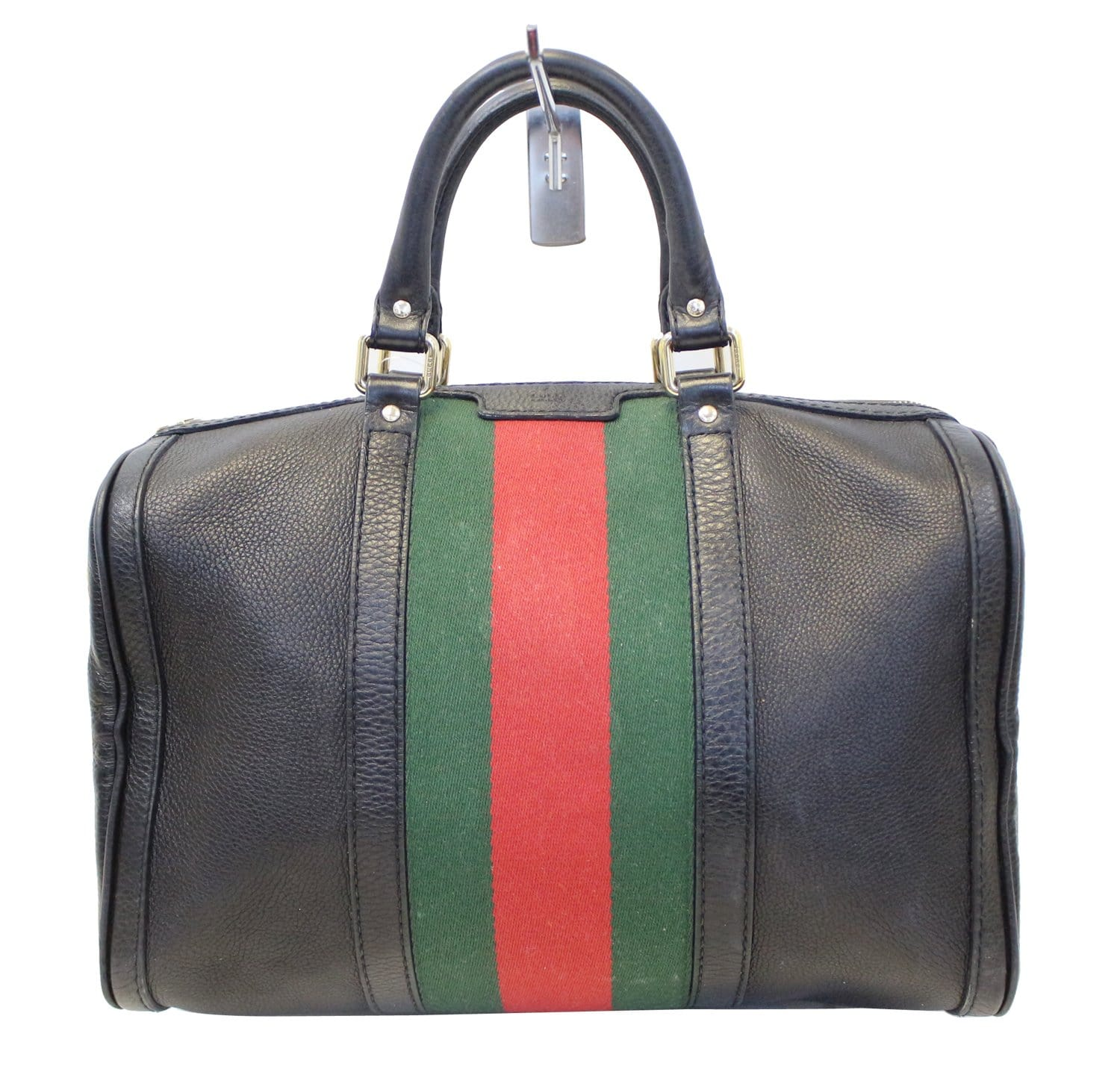 ff7b62bd164 GUCCI Vintage Web Medium Boston Bag with Signature Web