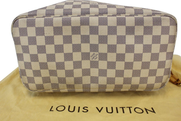 LOUIS VUITTON Damier Azur White Neverfull MM Tote Bag