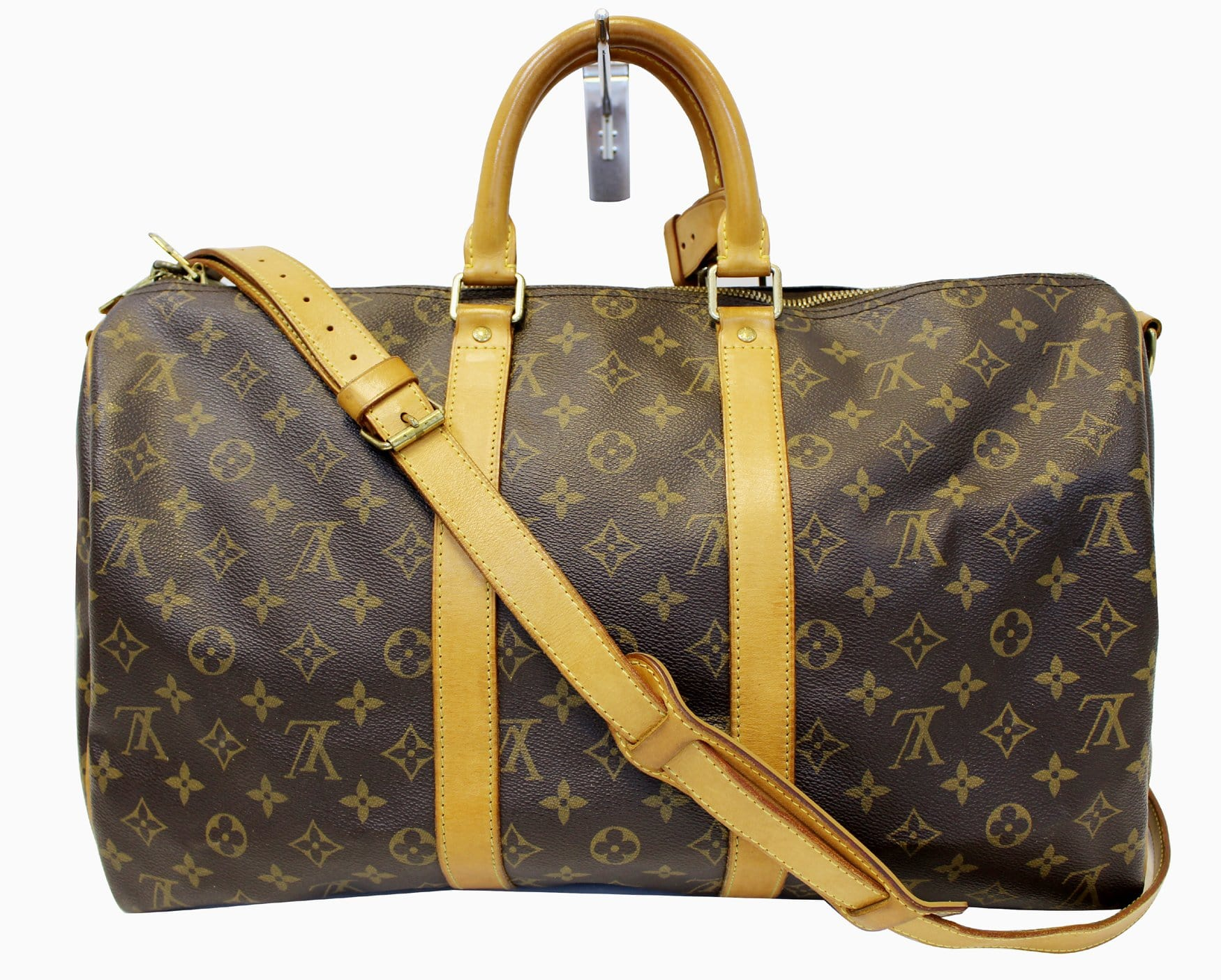 Authentic LOUIS VUITTON Keepall 45 Bandouliere Monogram Duffle Travel bca214f585a6b
