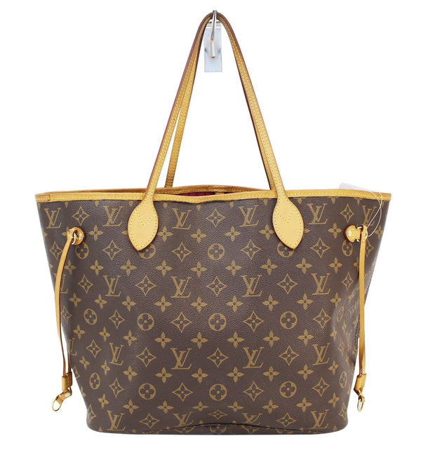 LOUIS VUITTON Monogram Neverfull MM Shoulder Bag Fuchsia