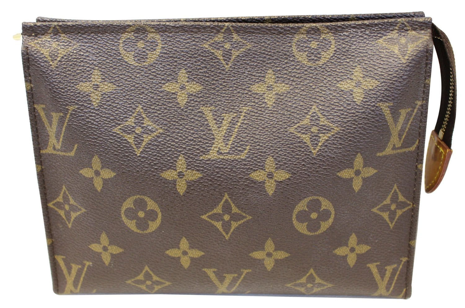 df09413eb4d0 LOUIS VUITTON Monogram Canvas Poche Toilette 19 Cosmetics Pouch ...