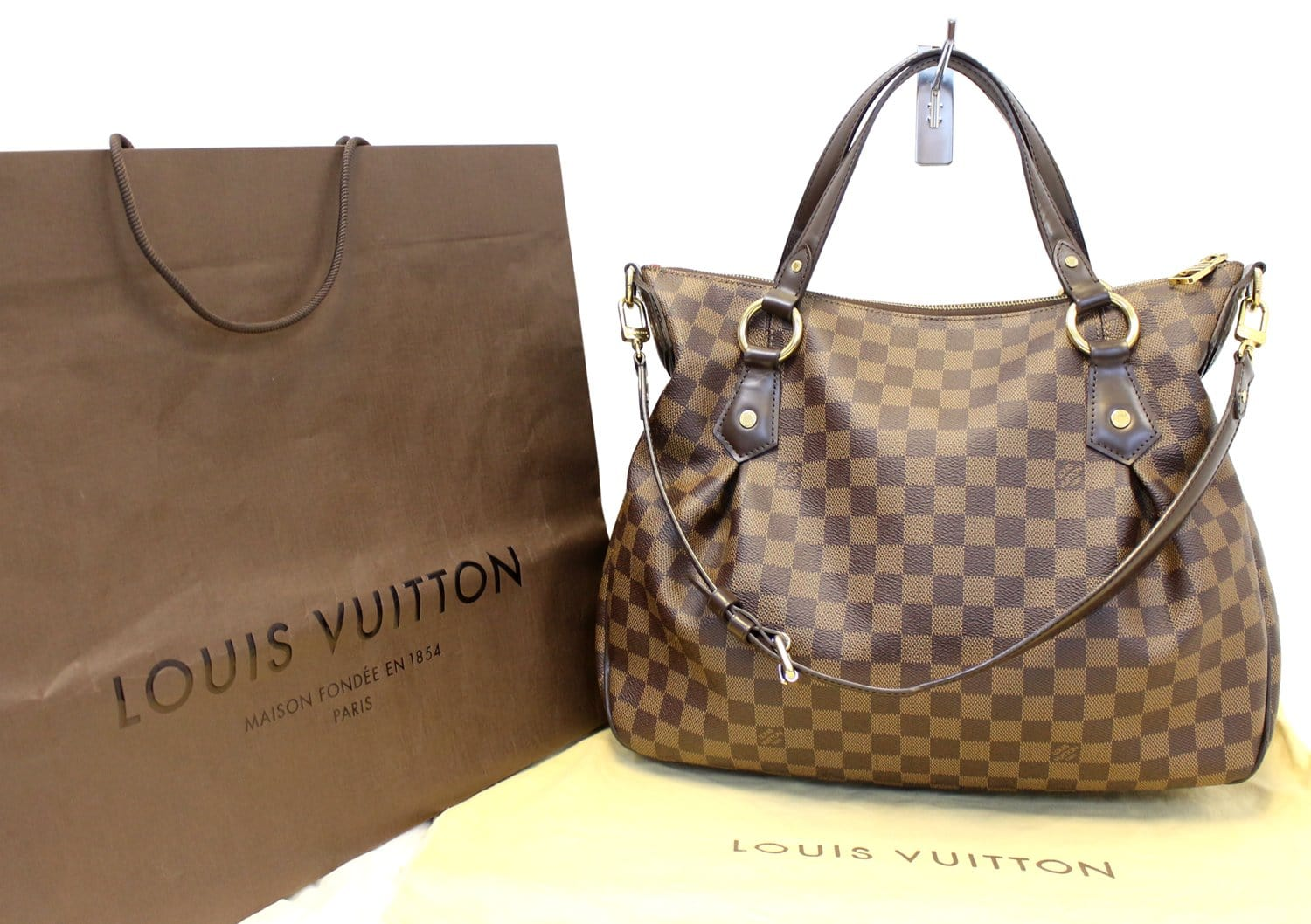 13f379527d84 LOUIS VUITTON Evora MM Damier Ebene Tote Shoulder Bag