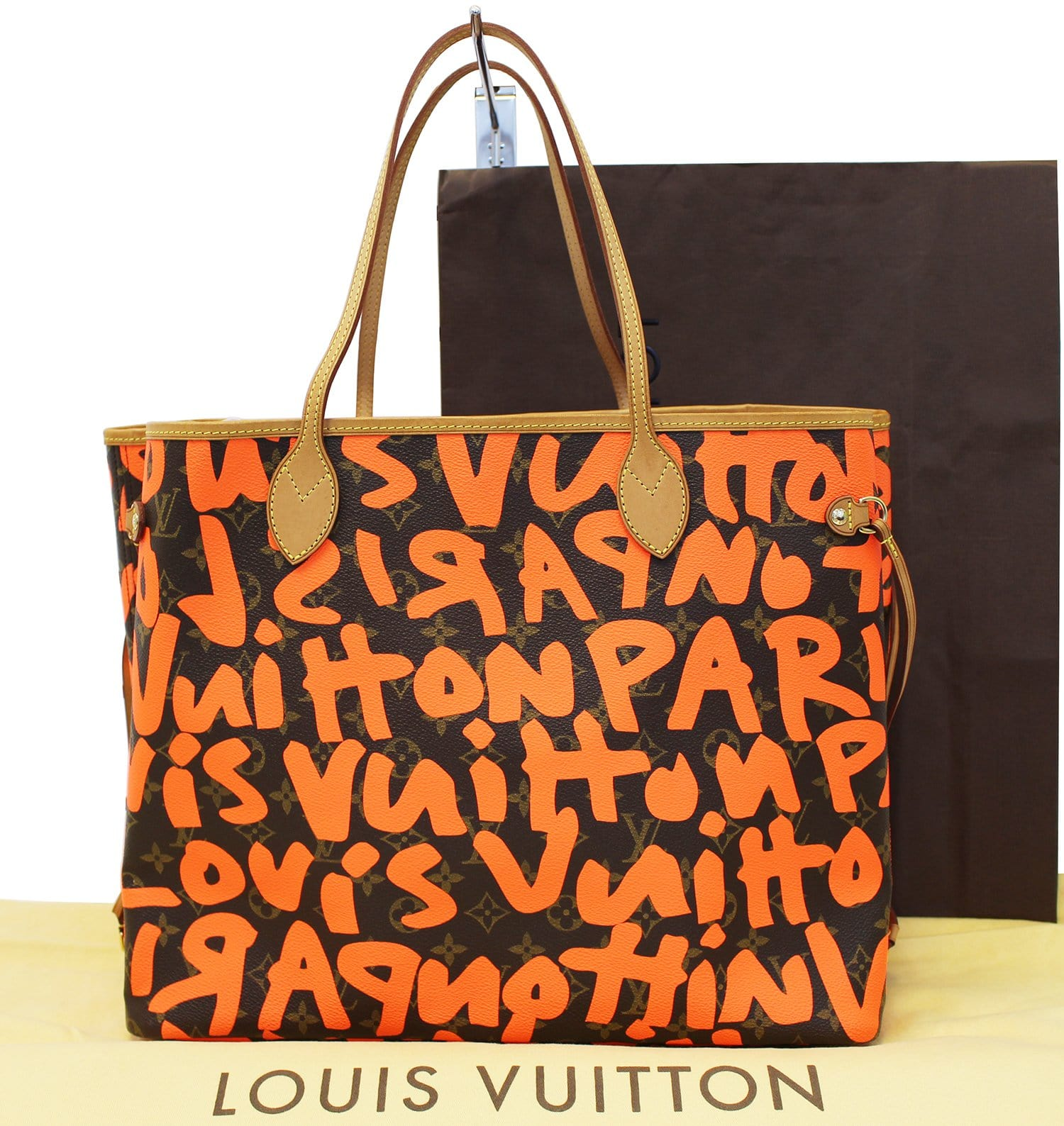 f3e54c82ef802 LOUIS VUITTON Limited Edition Orange Stephen Sprouse Graffiti Neverful