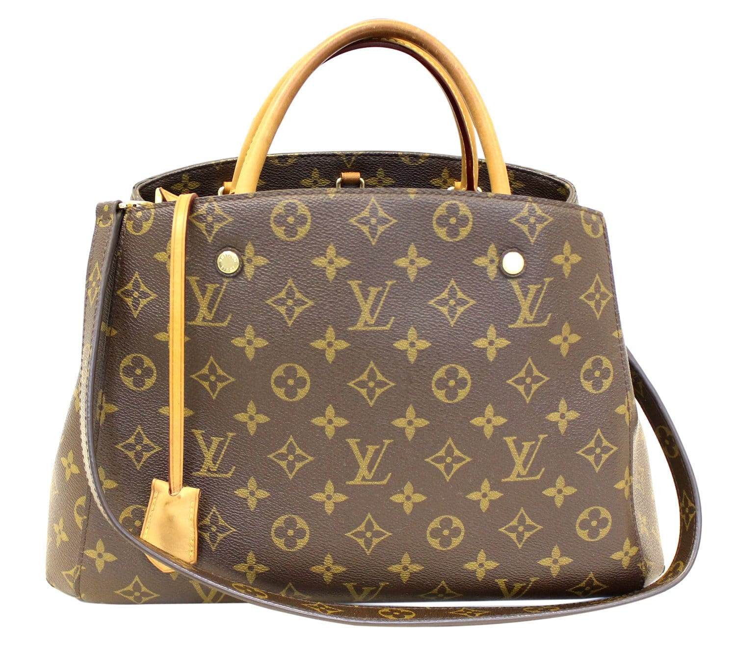 e85da169b3598 LOUIS VUITTON Monogram Canvas Montaigne MM Shoulder Bag