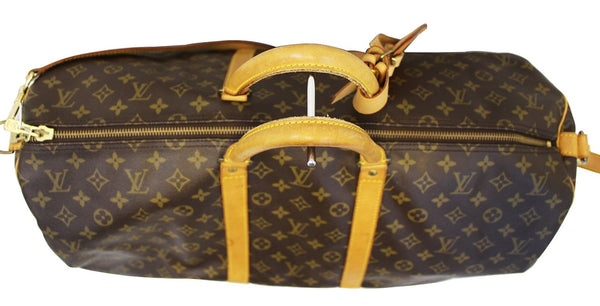 LOUIS VUITTON Monogram Keepall Bandouliere 55 Boston Bag