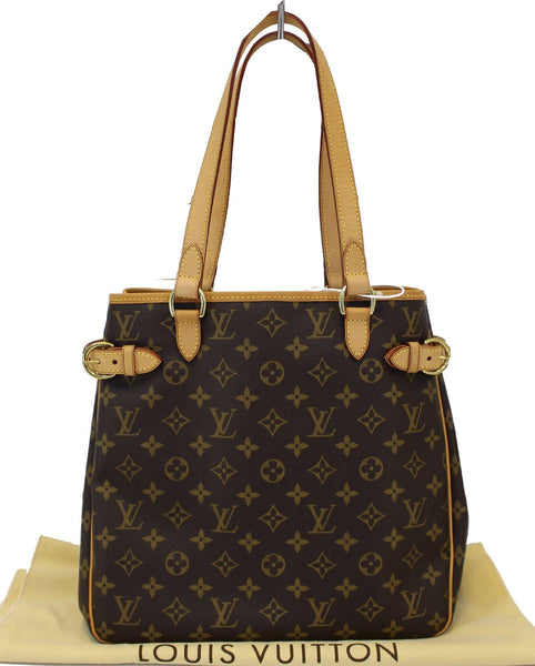 88f392cbcd44 Authentic LOUIS VUITTON Monogram Canvas Batignolles Vertical Bag TT1539 ...