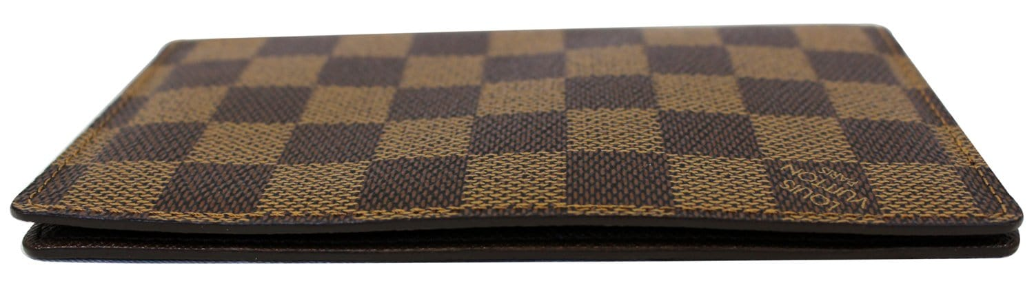 51622906c3d8 LOUIS VUITTON Damier Ebene Checkbook Cover Card Holder Wallet