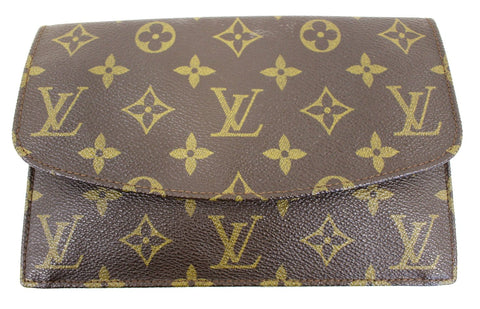 LOUIS VUITTON Pre Owned Monogram Canvas Pochette Rabat Clutch