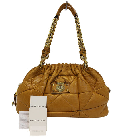 MARC JACOBS Quilted Leather Yellow Shoulder Bag - 30% Off