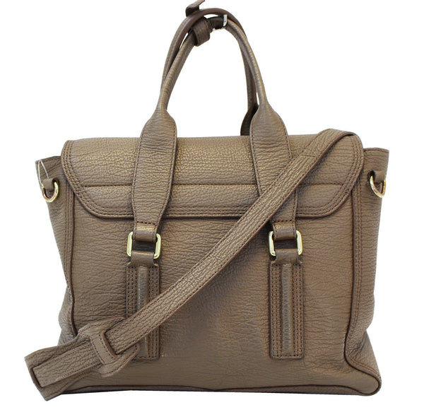 3.1 Phillip Lim Brown Leather Handbag Embossed Satchel - front view