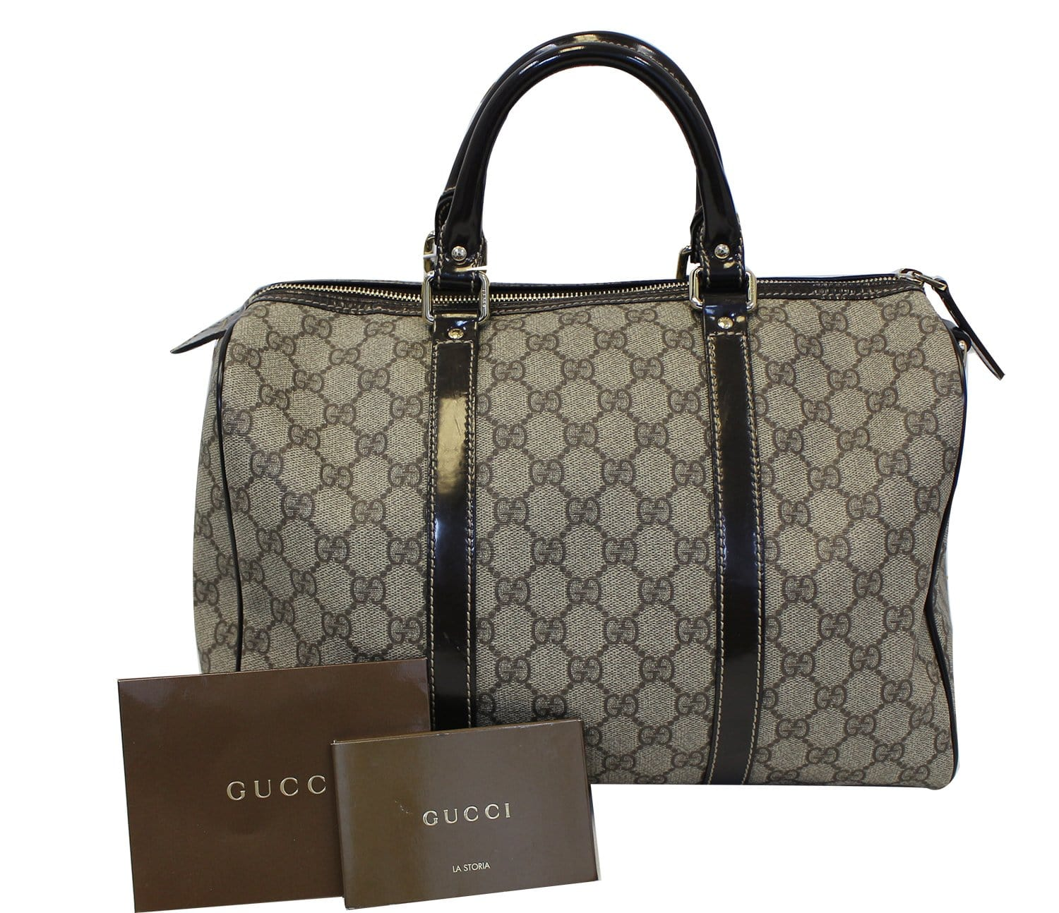 d08bdbf2b0a GUCCI Joy Medium Monogram Boston Satchel Bag 193603