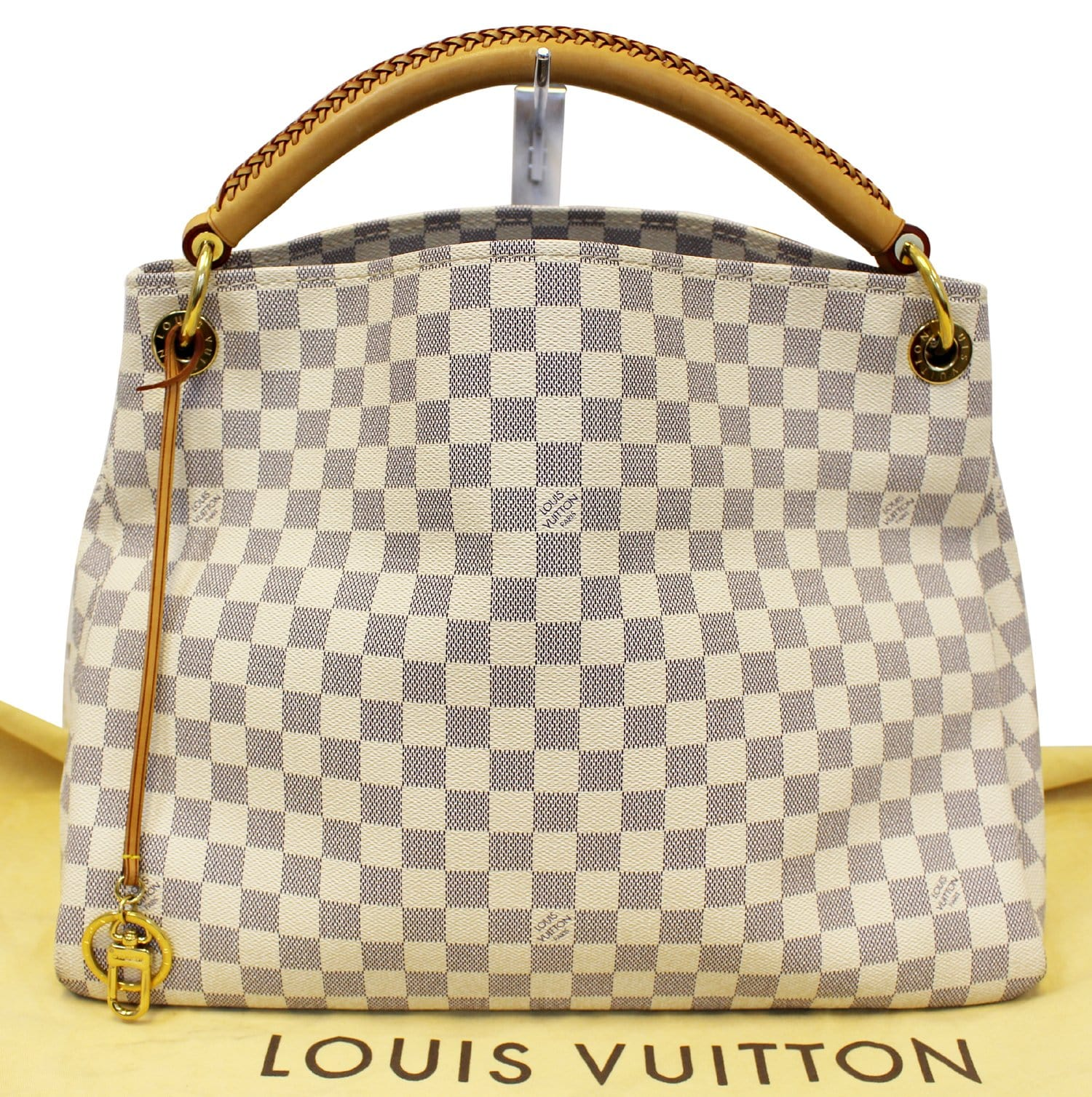 957e25117eb6 LOUIS VUITTON Damier Azur Artsy MM Shoulder Tote Bag