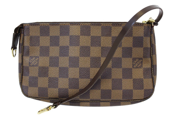 Authentic LOUIS VUITTON Damier Ebene Pochette Accessoires Pouch E3358