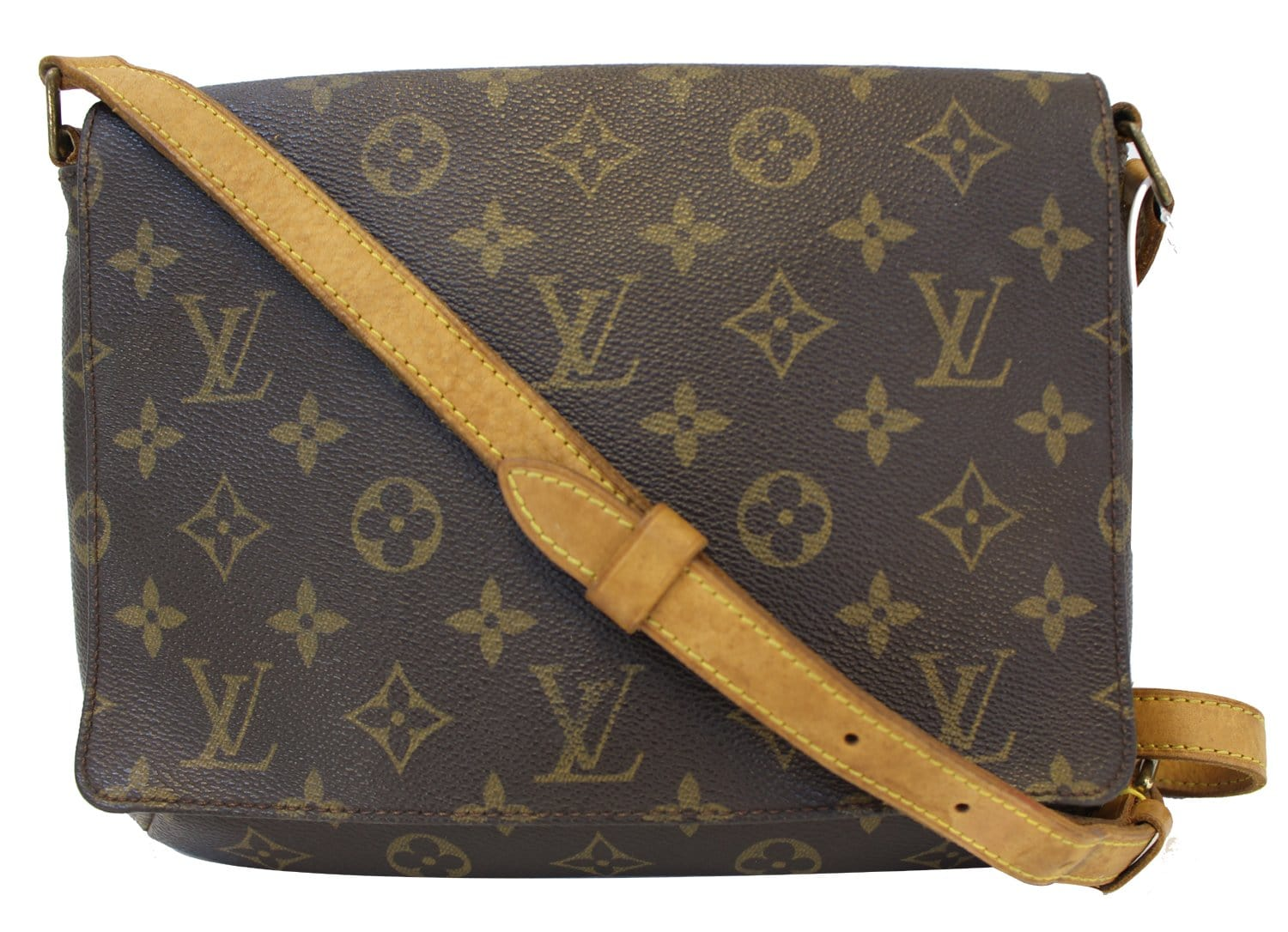 d451b9998035 Authentic LOUIS VUITTON Monogram Canvas Musette Tango Crossbody TT1550