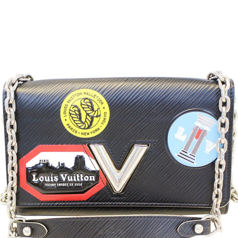 LOUIS VUITTON Epi World Tour Twist Chain Wallet Noir Black Crossbody - 20% OFF
