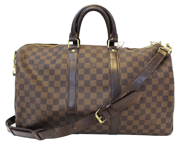 LOUIS VUITTON Damier Ebene Keepall 45 Bandouliere Travel Bag - 30% Off