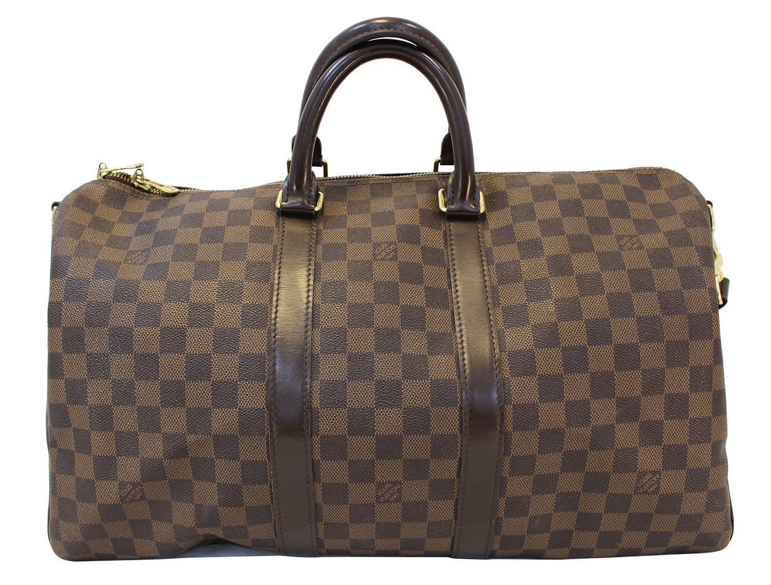 e6c5fbe66731 LOUIS VUITTON Damier Ebene Keepall 45 Bandouliere Travel Bag - 30% Off