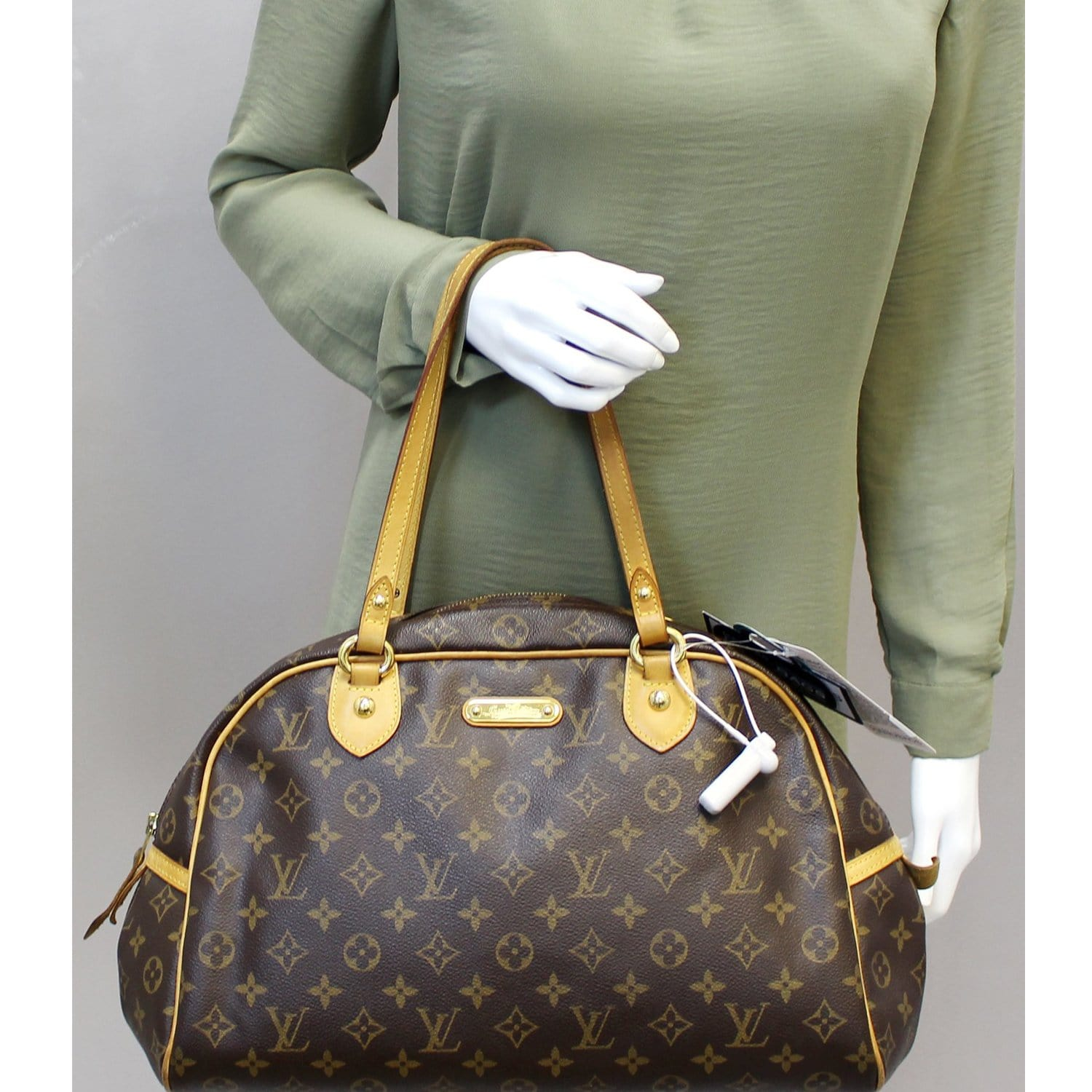 a52a7b91d441 LOUIS VUITTON Montorgueil GM Monogram Canvas Shoulder Bag