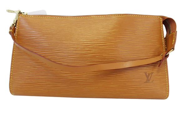 LOUIS VUITTON Epi Leather Brown Pochette Accessoires Pouch