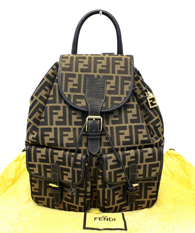Authentic FENDI Zucca Monogram Canvas Backpack E3735