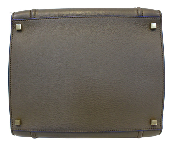 CELINE Phantom Olive Green Bicolor Grained Leather Luggage Bag