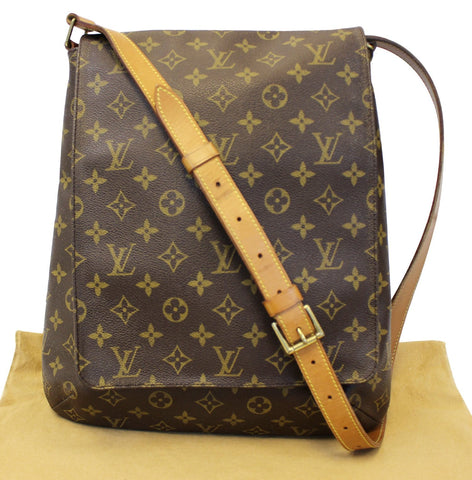 5062069479ac LOUIS VUITTON Musette Salsa GM Monogram Crossbody Shoulder Bag