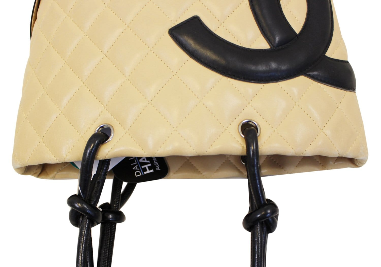 60b85e585 CHANEL Cambon Ligne Quilted Tote Beige Black