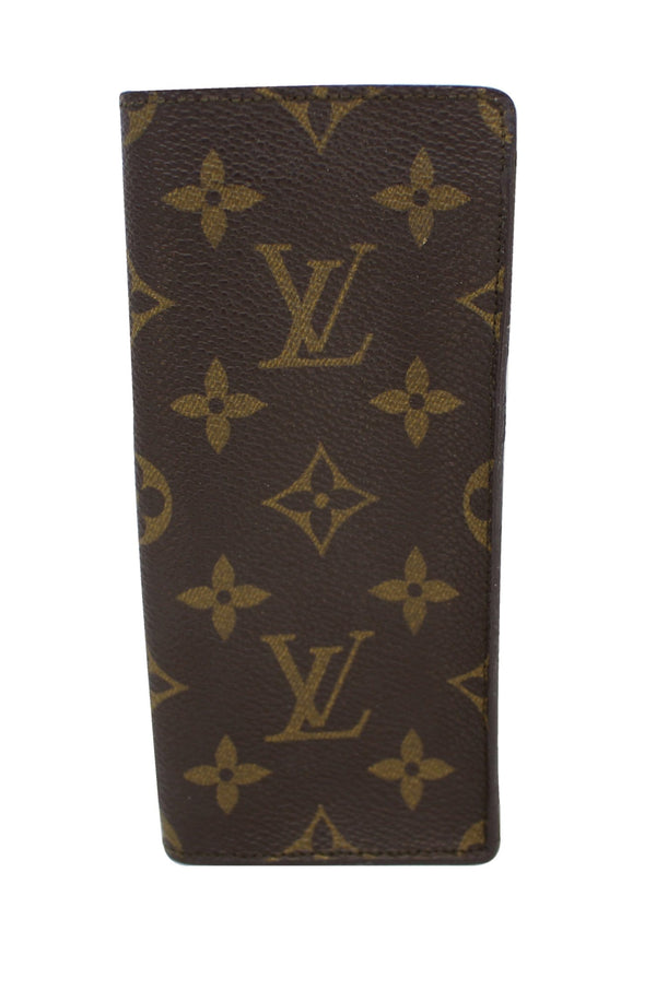 LOUIS VUITTON Monogram Canvas Simple Glasses Case