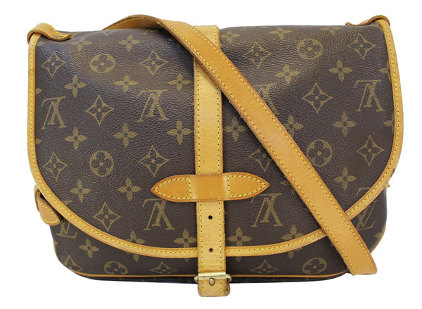 Authentic LOUIS VUITTON Monogram Canvas Saumur 30 Messenger Bag CC372