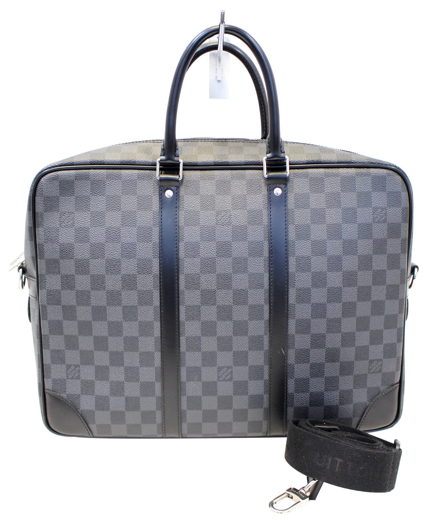 ddc5a918de05 LOUIS VUITTON Damier Graphite Porte-Documents Voyage GM Briefcase Bag E4090