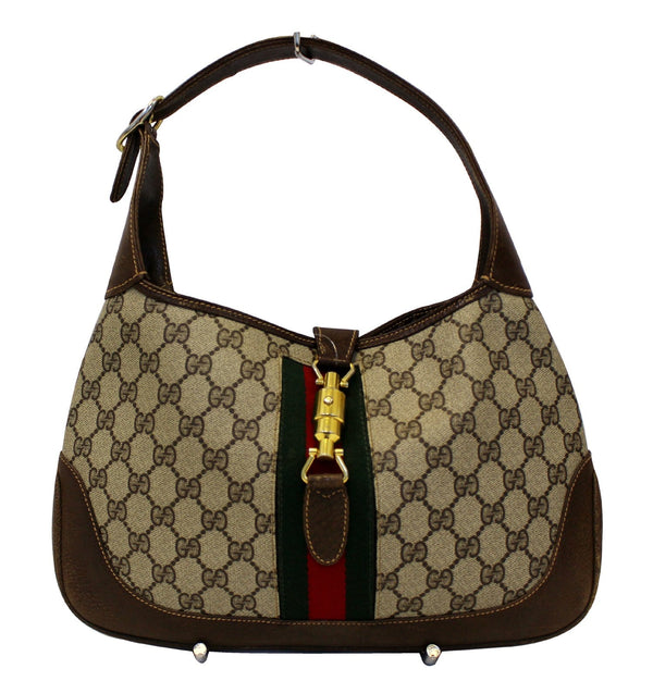 GUCCI Monogram GG Canvas Jackie O Hobo