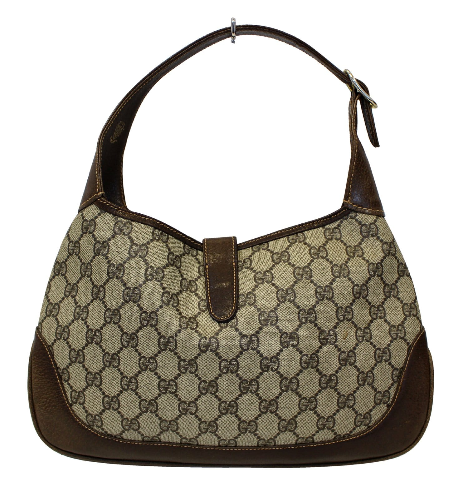 b6f17df3b4f GUCCI Monogram GG Canvas Jackie O Hobo