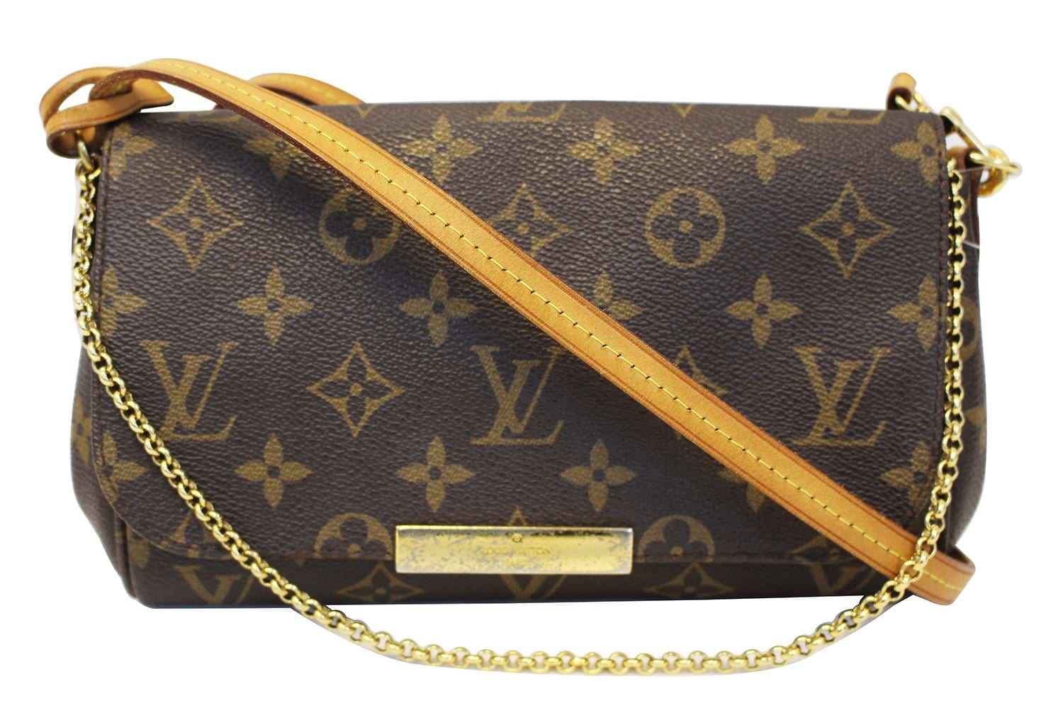 d959f91f56b1 LOUIS VUITTON Crossbody Bag Used Monogram Canvas Favorite PM