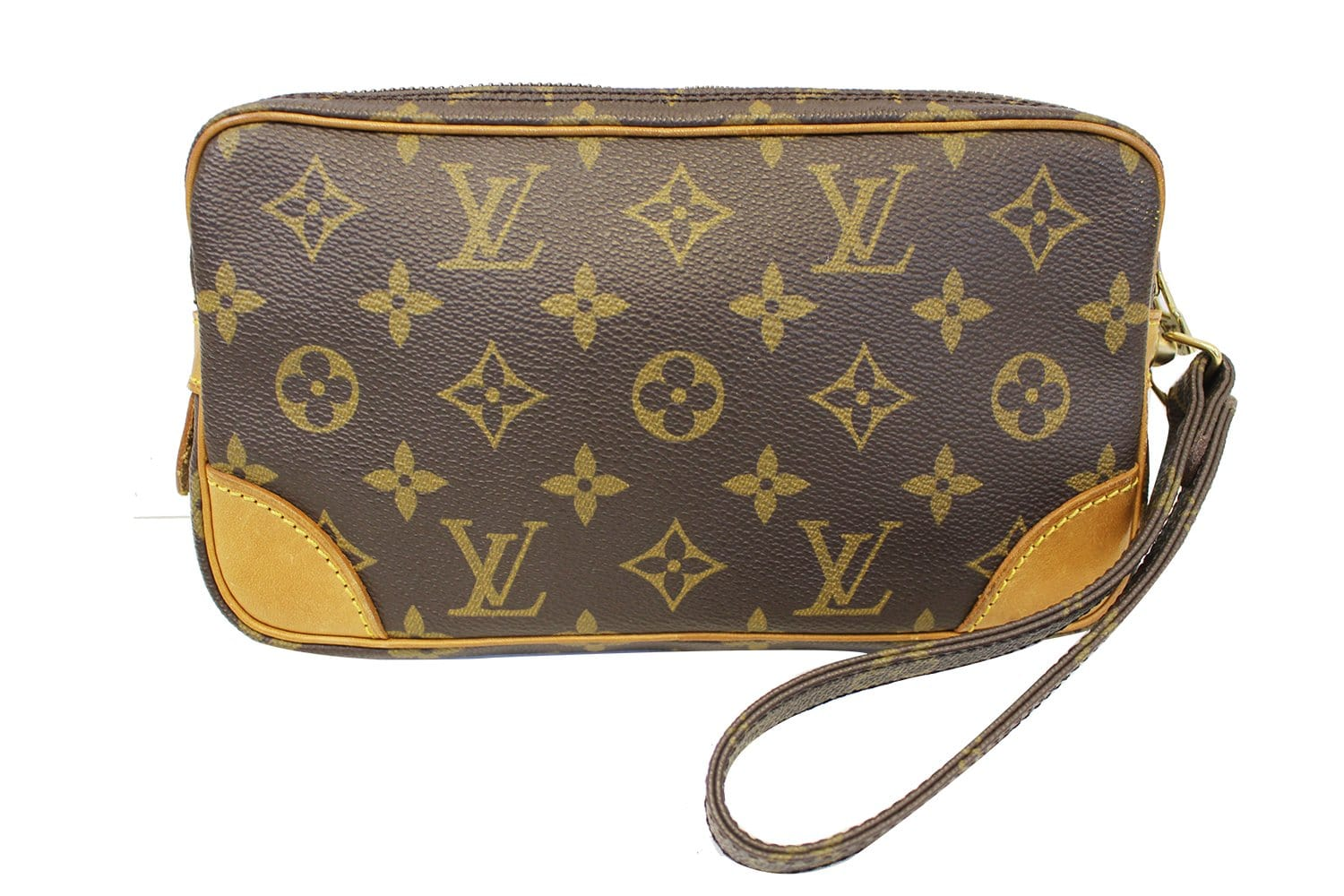389e5eb5298f LOUIS VUITTON Monogram Canvas Marly Dragonne PM Clutch Bag E4036